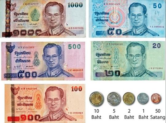 תמונת הכסף התאילנדי - כמה עולה טיול לתאילנד