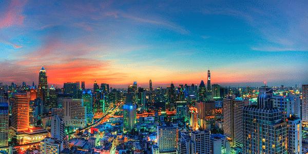 תמונת בנגקוק תאילנד בשקיעה