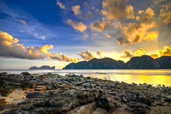 תמונה של נוף זריחה דרום תאילנד