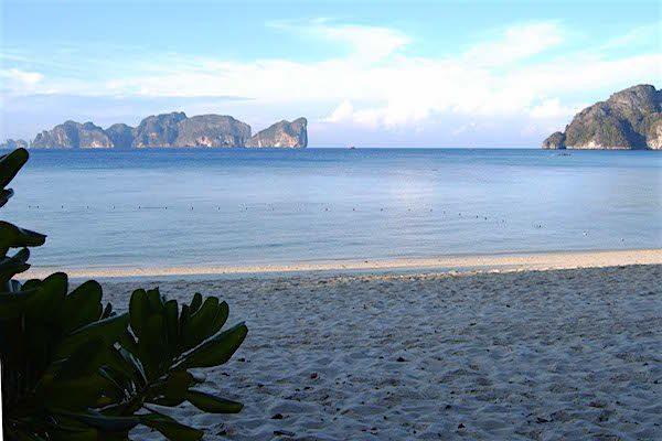 דרום תאילנד - קופיפי - תמונת מפרץ (פיפי-לאי ברקע)