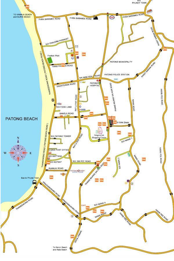 תמונת מפת פטונג - פוקט תאילנד