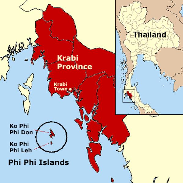 תמונה של מפת קראבי ותאילנד