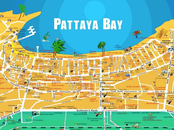 תמונת מפת העיר פטאיה