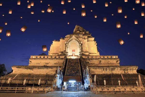 תמונת מקדש בערב צ׳אנג מאי