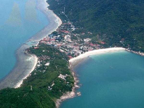 תמונת על של חוף הדרין בדרום קופנגן