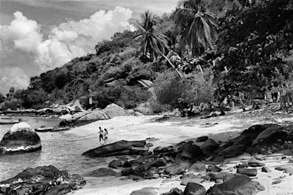 תמונה של האי קו טאו - שחור לבן אילוסטרציה מתוך אתר טיול בתאילנד עם סגול