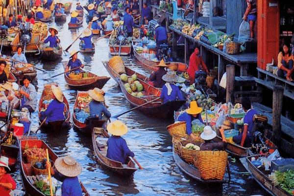 תמונת השוק הצף בתאילנד מתוך עמוד קניות בתאילנד של סגול סוכנות נסיעות בתאילנד