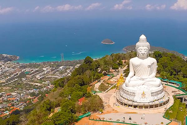 תמונה של נוף פוקט צד מערבי מביג בודהה מאתר טיול בתאילנד של סגול
